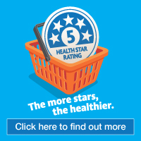 Health Star Rating. The more stars, the healthier